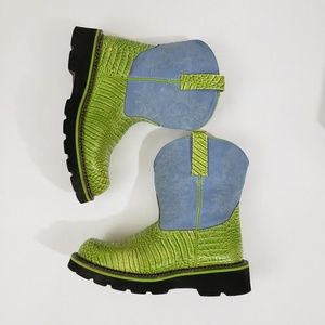 Ariat Shoes - Ariat Fat Baby Leather Snakeskin Boots Size 9